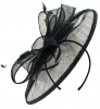 Failsworth Millinery Sinamay Disc Headpiece in Black