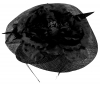 Failsworth Millinery Sinamay Ascot Headpiece in Black