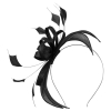 Failsworth Millinery Sinamay Fascinator in Black