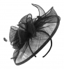 Failsworth Millinery Sinamay Headpiece in Black