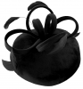 Failsworth Millinery Velvet Loops Pillbox in Black