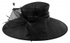 Failsworth Millinery Wide Brimmed Events Hat in Black