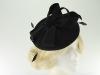 Failsworth Millinery Wool Felt Disc Headpiece in Black