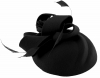 Failsworth Millinery Wool Felt Flower Pillbox in Black