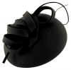 Failsworth Millinery Wool Felt Pillbox in Black