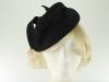Failsworth Millinery Wool Felt Pillbox Headpiece in Black
