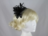 Flower Aliceband Fascinator in Black
