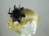 Flower Fascinator in Black