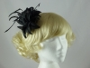 Flower and Biots Fascinator in Black