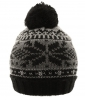 Hawkins Beanie Bobble Hat in Black