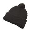 Hawkins Chunky Knit Beanie Hat in Black