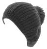 Hawkins Chunky Knit Pom Pom Beanie in Black