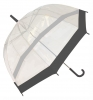 Hawkins Clear Umbrellla in Black