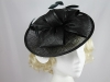 Hawkins Collection Bow Disc Headpiece in Black