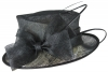 Hawkins Collection Quills Occasion Hat in Black