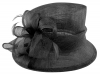 Hawkins Collection Down Brim Wedding Hat in Black