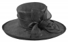 Hawkins Collection Flower Ascot Hat in Black