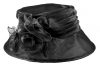 Hawkins Collection Organza Wedding Hat in Black
