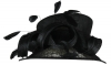 Hawkins Collection Short Down Brim Wedding Hat in Black