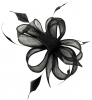 Hawkins Collection Sinamay Fascinator in Black