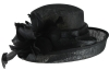 Hawkins Collection Upbrim Wedding Hat in Black