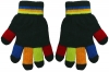 Magic Multi Coloured Gloves in Black