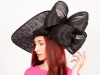 Matthew Eluwande Millinery Lady D in Black