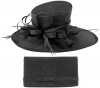 Max and Ellie Events Hat with Matching Large Occasion Bag in Black