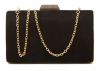 Papaya Fashion Clutch Box Bag in Black