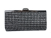 Papaya Fashion Diamante Clutch Bag in Black