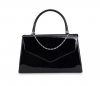 Papaya Fashion Patent Evening Bag in Black