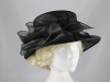Shimmer Organza Occasion Hat in Black
