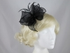 Molly and Rose Organza Fascinator in Black