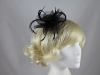 Swirl & Biots Fascinator on aliceband in Black