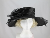 Wide Brimmed Occasion Hat in Black