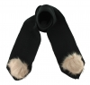 Zelly Detachable Bobble Scarf in Black