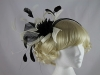 Black and Ivory Flower Headpiece
