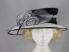 Asymmetrical Organza Hat in Black and White