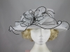 Collapsible Wedding Hat in Black and White
