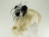 Failsworth Millinery Feather Fascinator in Black and White