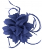 Aurora Collection Flower and Biots Fascinator in Blue