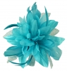 Aurora Collection Flower with Biots Fascinator in Blue
