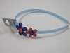 Flower Aliceband in Blue