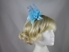 Flower Aliceband Fascinator in Blue