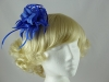Flower and Biots Fascinator in Blue