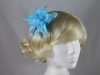 Flower with Biots Fascinator in Blue