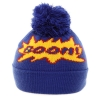 Kids Slogan Ski Hats in Blue