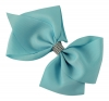 Molly and Rose Large Diamante Hair Bow in Blue