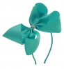 Molly and Rose Aliceband Diamante Hair Bow in Blue