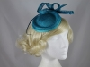 Quill and Loops Headpiece in Blue